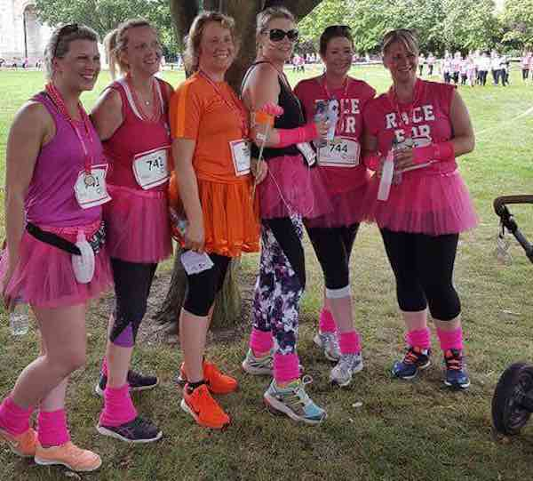 web Rachel Kitching and friends at Race for Life.jpg