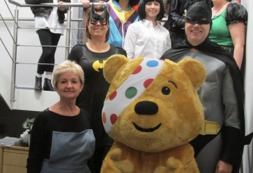 Beacon staff in fancy dress and Pudsey (2016 image)