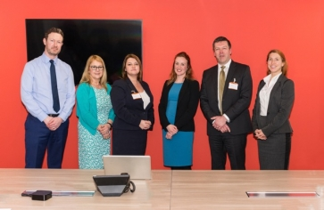 Left to right: Jon Landy and Angela Maher of Acumen Financial Partnership, with speakers Susan Sherry and Katie Austin from Hill Dickinson, Ed Midgeley from Isle of Man Assurance and Jaclyn King-Gibson from Rathbone Investment Management.