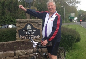 IFP's Nick Cann after completing 100 mile charity bike ride