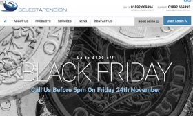 Selectapension's Black Friday promotion
