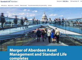 Standard Life Aberdeen new website