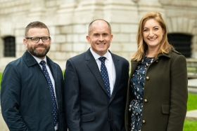 SRLV Financial LLP financial adviser, Chris Reed; TPO chief executive officer, Stuart Phillips and SRLV Financial LLP, financial adviser, Claire Menni