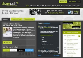 Share Radio website
