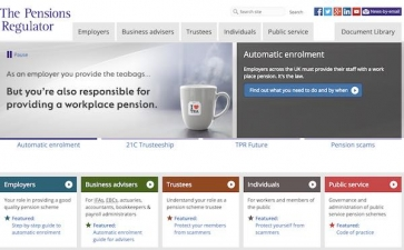 The Pensions Regulator website