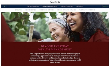 Coutts website