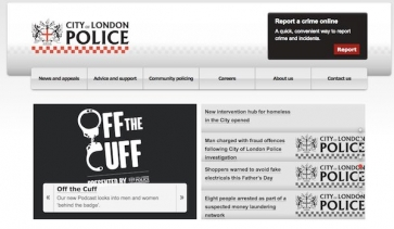 City of London Police website