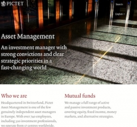 Pictet's website