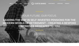 Curtis Banks new Your Future SIPP website