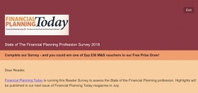 Financial Planning Today: Reader Survey