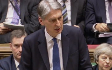 Chancellor Philip Hammond in the Commons