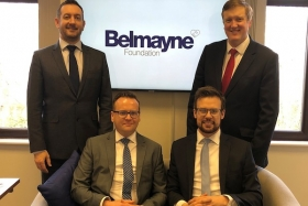 Ben Smalley (second left) with his fellow Belmayne Foundation partners