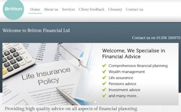 Britton Financial website