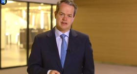 Aviva CEO Maurice Tulloch in his video presentation. Courtesy: Aviva