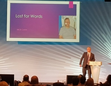 Ex-IFP CEO and stroke survivor Nick Cann speaking at the CISI 2017 Financial Planning Conference