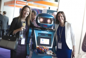 Intelliflo had a robot at the company stand at the 2015 IFP Conference