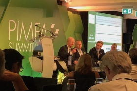 Lord Willetts makes a point on the PIMFA Summit panel discussion