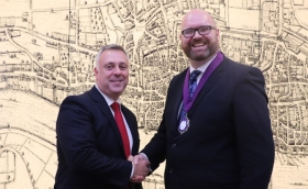 John White hands over the PFS presidency to Adam Owen