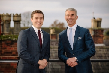 L-R: Jonnie Whittle, managing director, Clarion Wealth and Ron Walker, founder of Clarion Wealth