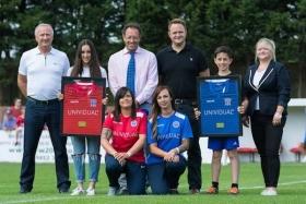 The Unividual team with Swindon Supermarines FC chairman, Jez Webb
