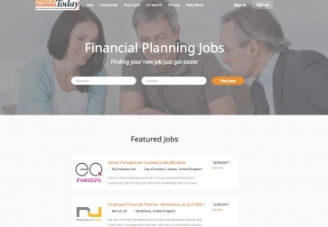 Financial Planning Jobs website