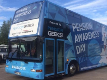 A Pension Geeks bus