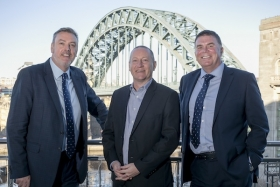 Fairstone's Mike Slater with Ian Dunk and Ralph Mitchell of Brett & Randall Financial Services