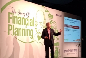 Steve Gazzard speaking at PFS National Financial Planning Symposium at Wembley