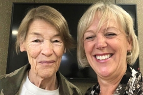 Glenda Jackson with Julie Lord
