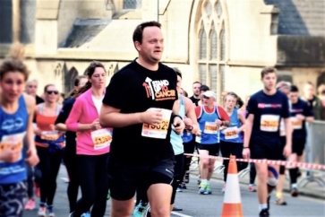 Lewis Baxter at the Bath Half Marathon